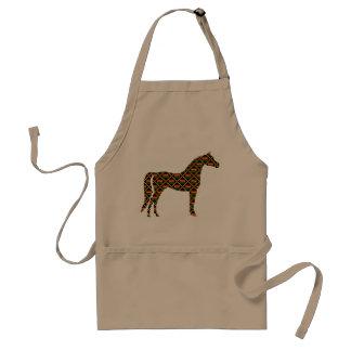 Kente Cloth Horse Adult Apron