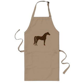 Kente Cloth Horse Long Apron