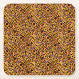 kente Party Square Paper Coaster