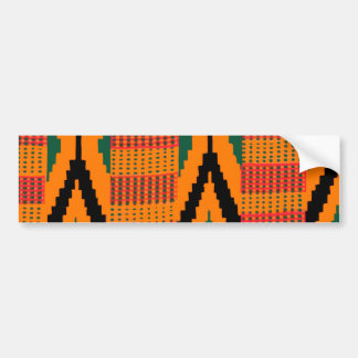 Kente Pattern Car Bumper Sticker