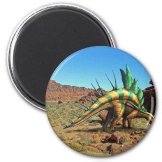 Kentrosaurus Dinosaur 2 Inch Round Magnet