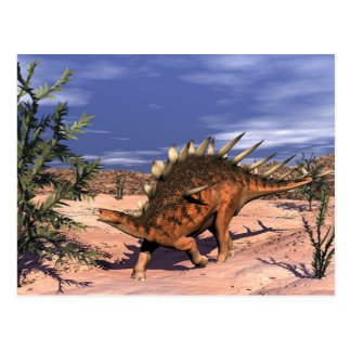 Kentrosaurus dinosaur - 3D render Postcard