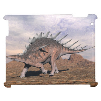 Kentrosaurus dinosaur in the desert - 3D render Cover For The iPad