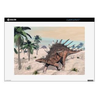 """Kentrosaurus dinosaurs in the desert - 3D render Skins For 15"""" Laptops"""