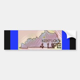 """Kentucky 4 Life"" State Map Pride Design Bumper Sticker"