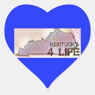 """Kentucky 4 Life"" State Map Pride Design Heart Sticker"