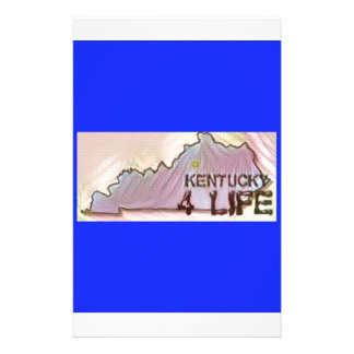 """Kentucky 4 Life"" State Map Pride Design Stationery"