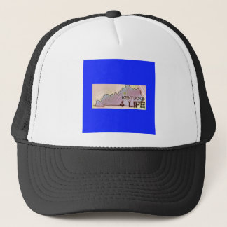 """Kentucky 4 Life"" State Map Pride Design Trucker Hat"