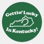 Kentucky afortunado etiqueta