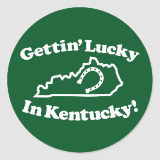 Kentucky afortunado pegatina redonda