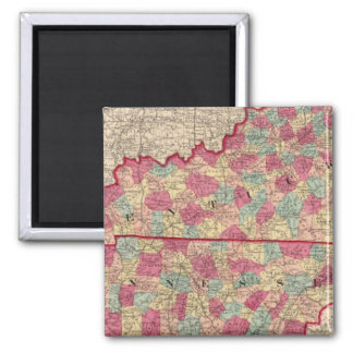 Kentucky and Tennessee 2 2 Inch Square Magnet