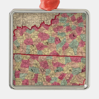 Kentucky and Tennessee 2 Metal Ornament