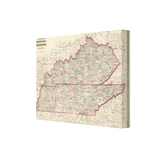 Kentucky and Tennessee 3 Canvas Print