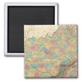 Kentucky and Tennessee 3 2 Inch Square Magnet