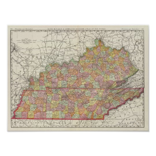 Kentucky and Tennessee 4 Poster