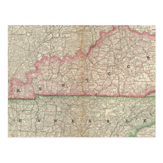 Kentucky and Tennessee 7 Postcard