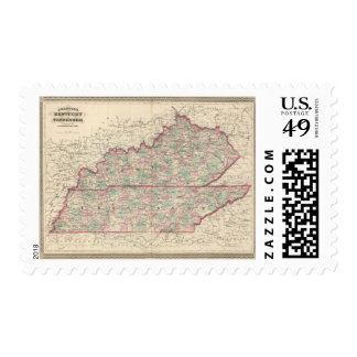 Kentucky and Tennessee Postage Stamp