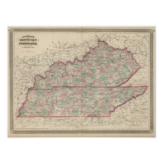 Kentucky and Tennessee Poster