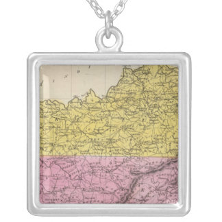 Kentucky And Tennessee Square Pendant Necklace