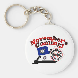 Kentucky Anti ObamaCare – November's Coming! Keychain