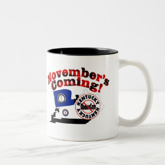 Kentucky Anti ObamaCare – November's Coming! Two-Tone Coffee Mug