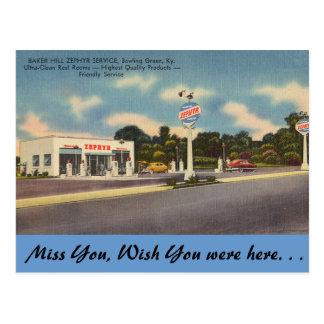 Kentucky, Baker Hill Service, Bowling Green Postcard