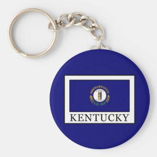 Kentucky Basic Round Button Keychain