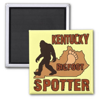 Kentucky Bigfoot Spotter 2 Inch Square Magnet