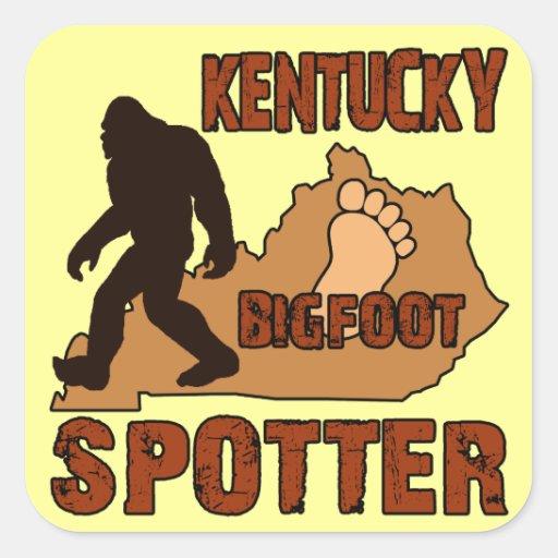 Kentucky Bigfoot Spotter Square Stickers