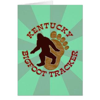 Kentucky Bigfoot Tracker Greeting Card