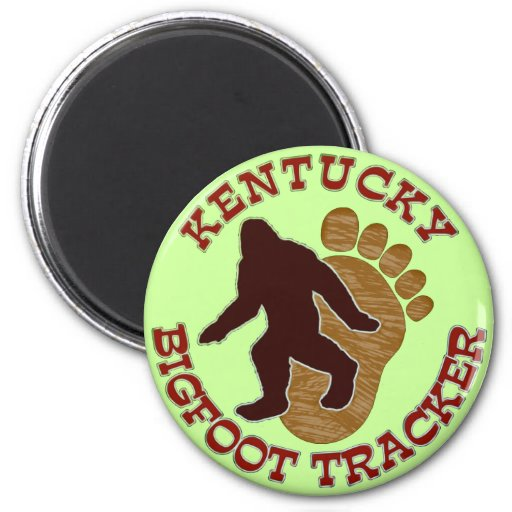 Kentucky Bigfoot Tracker Refrigerator Magnets
