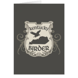 Greeting Card with Kentucky Birder design