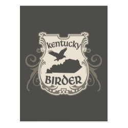 Postcard with Kentucky Birder design