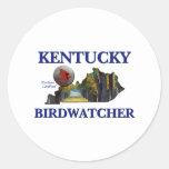 Kentucky Birdwatcher Etiqueta Redonda