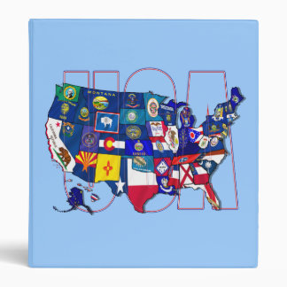 Kentucky Blue hole USA state flag map Vinyl Binder