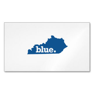 KENTUCKY BLUE STATE MAGNETIC BUSINESS CARD
