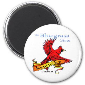 Kentucky Bluegrass State Cardinal 2 Inch Round Magnet