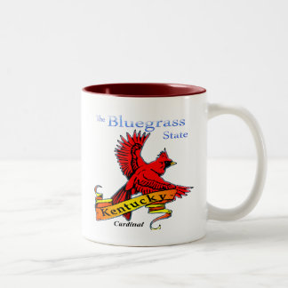 Kentucky Bluegrass State Cardinal Two-Tone Coffee Mug