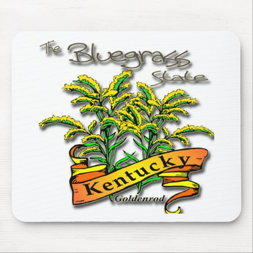 Kentucky Bluegrass State Goldenrod Mouse Pad