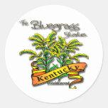 Kentucky Bluegrass State Goldenrod Classic Round Sticker
