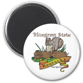 Kentucky Bluegrass State Gray Squirrel 2 Inch Round Magnet