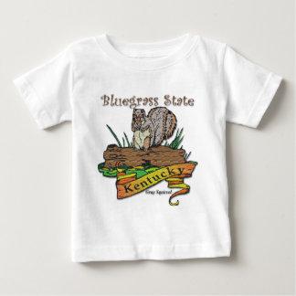 Kentucky Bluegrass State Gray Squirrel Baby T-Shirt