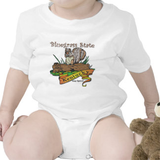Kentucky Bluegrass State Gray Squirrel Bodysuit