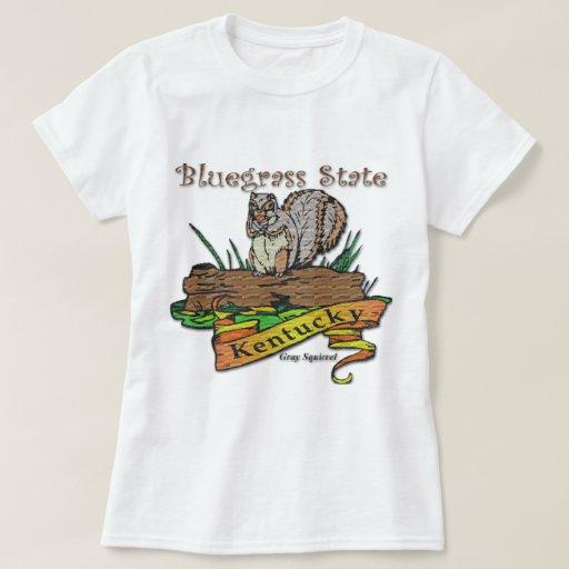 Kentucky Bluegrass State Gray Squirrel Tshirts