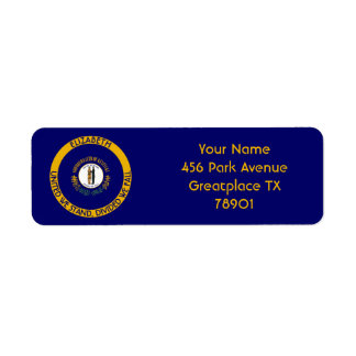 Kentucky Bluegrass State Personalized Flag Return Label