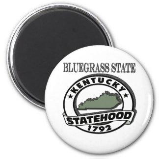 Kentucky Bluegrass Statehood 2 Inch Round Magnet