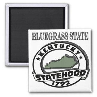 Kentucky Bluegrass Statehood 2 Inch Square Magnet