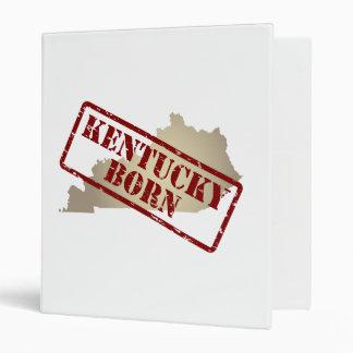 Kentucky Born - Stamp on Map 3 Ring Binder