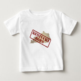 Kentucky Born - Stamp on Map Baby T-Shirt