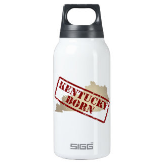 Kentucky Born - Stamp on Map Insulated Water Bottle